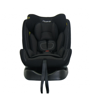 PICARDO 'SWIRL V2' 360 ISOFIX CAR SEAT PRIME KNIT FABRIC - BLACK